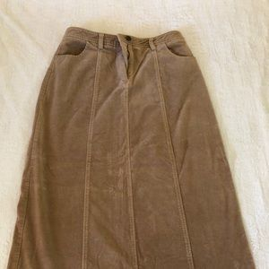 Relativity Tan Maxi Corduroy Skirt